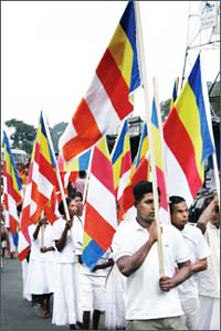 Buddhist flag marks 125th anniversary