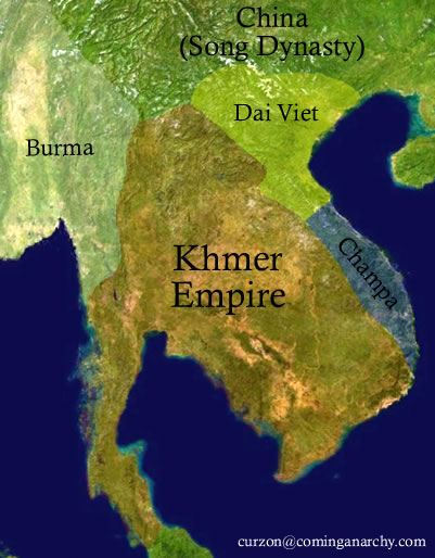 Khmer Empire Map Map of The Great Khmer Empire